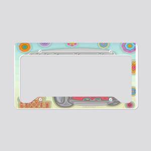 Hippie Van Glass Print License Plate Holder