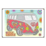 Hippie Van Glass Print Banner