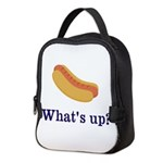 Whats up (Hot) Dog Funny Neoprene Lunch Bag
