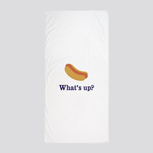 Whats up (Hot) Dog Funny Beach Towel