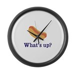 Whats up (Hot) Dog Funny Large Wall Clock