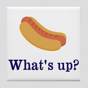 Whats up (Hot) Dog Funny Tile Coaster