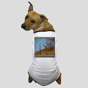 Old Cabin Window buck 3 Dog T-Shirt