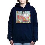 Hippie Van Glass Print Women's Hooded Sweatshirt