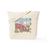Hippie Van Glass Print Tote Bag