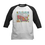 Hippie Van Glass Print Baseball Jersey