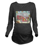 Hippie Van Glass Print Long Sleeve Maternity T-Shi