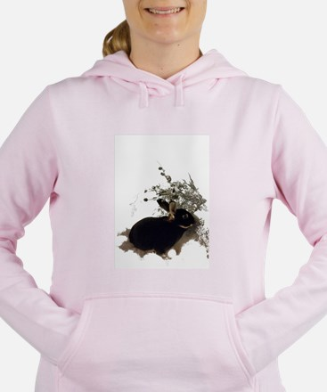 Unique Bunny Women's Hooded Sweatshirt