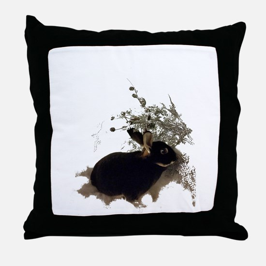 Cool Bunny Throw Pillow