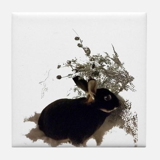 Unique Rabbit christmas Tile Coaster