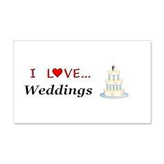 I Love Weddings Wall Decal