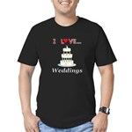 I Love Weddings Men's Fitted T-Shirt (dark)