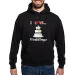 I Love Weddings Hoodie (dark)