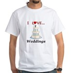 I Love Weddings White T-Shirt