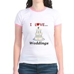 I Love Weddings Jr. Ringer T-Shirt