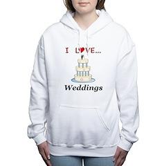 I Love Weddings Women's Hooded Sweatshirt