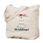 I Love Weddings Tote Bag