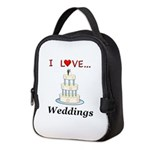 I Love Weddings Neoprene Lunch Bag