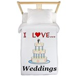 I Love Weddings Twin Duvet