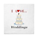 I Love Weddings Queen Duvet