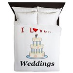 I Love Weddings Queen Duvet