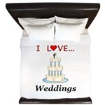 I Love Weddings King Duvet