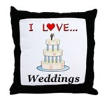I Love Weddings Throw Pillow