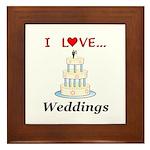 I Love Weddings Framed Tile