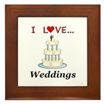 I Love Weddings Framed Tile