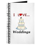 I Love Weddings Journal