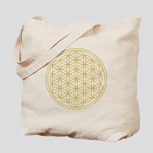 Flower Of Life Gold Tote Bag