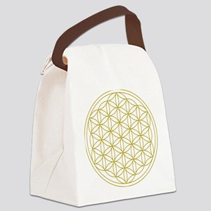 Flower of Life Gold Canvas Lunch Bag