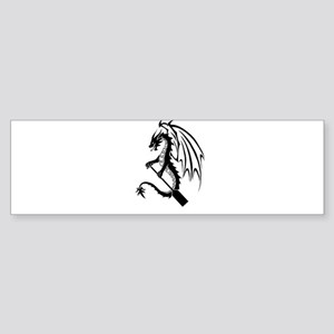 Dragon with paddle logo Bumper Sticker