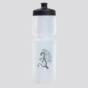 Dragon with paddle logo Sports Bottle
