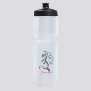 Dragon Boat red Text Sports Bottle