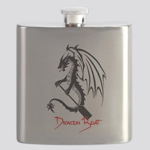 Dragon Boat red Text Flask