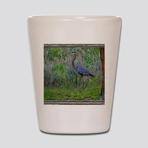 Blue Heron Shot Glass