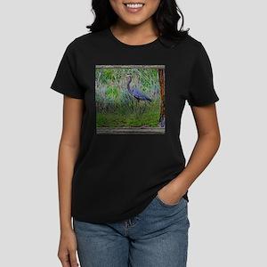 Blue Heron Women's Dark T-Shirt