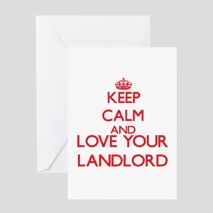 Keep Calm and love your Landlord Greeting Cards