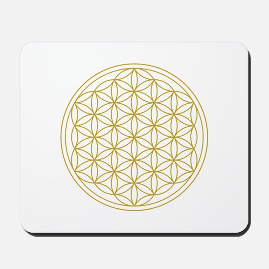Flower Of Life Gold Mousepad