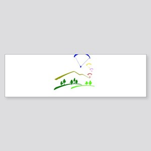 Paraglide Colour Bumper Sticker