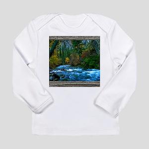 Cabin window autumn riv Long Sleeve Infant T-Shirt