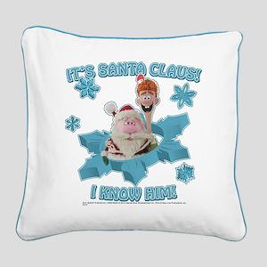 Santa I Know Him Square Canvas Pillow