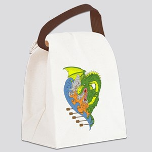 Dragon boat 9 Canvas Lunch Bag