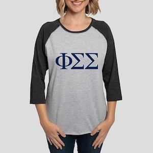 Phi Sigma Sigma Letters Womens Baseball Tee