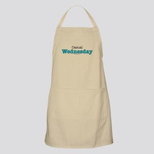Casual Wednesday Blue BBQ Apron