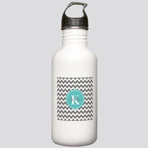 Gray and Turquoise Che Stainless Water Bottle 1.0L