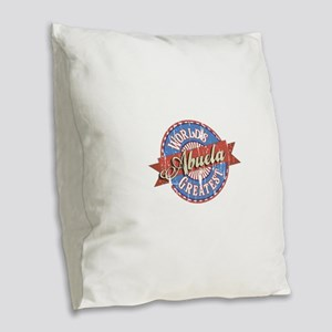 World's Greatest Abuela Burlap Throw Pillow
