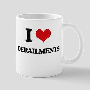 I Love Derailments Mugs