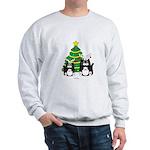 2 Tuxedo Cats With Antlers Christmas Sweatshirt